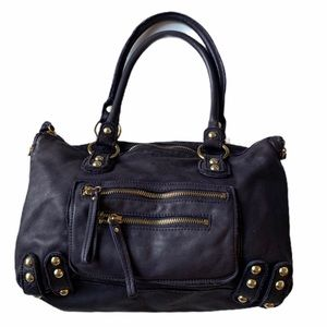 Linea Pelle Dylan Large Speedy Satchel Purse